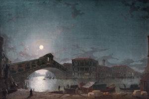 'The Rialto Bridge Venice, by Moonlight'