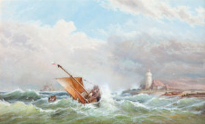 'A Stormy Sea'