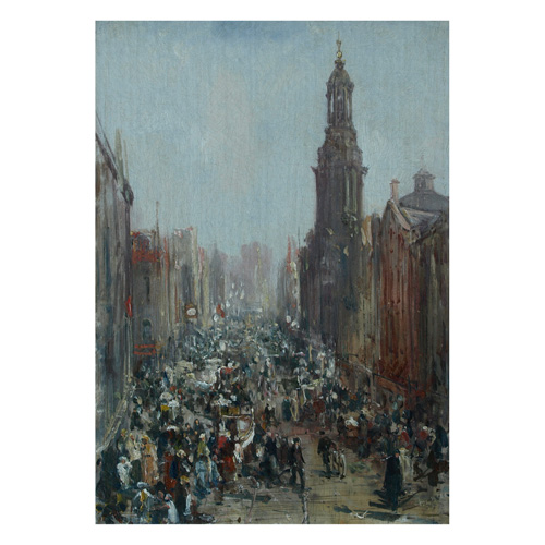 'Saturday Morning, St Mary's Gate, Manchester'