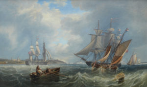 'Shipping on the Solent, near Osbourne House'