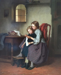 'The Knitting Lesson'
